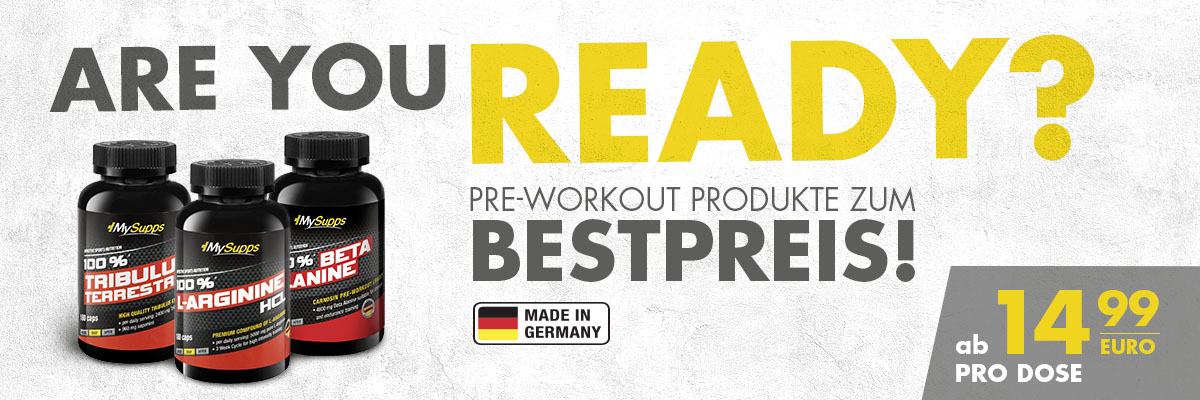 MS Start Pre-Workout Produkte MAI18