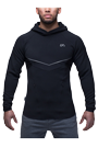 Gym Aesthetics Hoodie Herren Muscle Fit 3.0 - schwarz