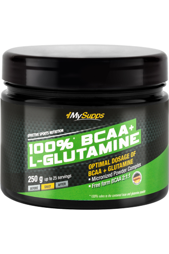 My Supps 100% BCAA plus Glutaminsäure - 250g