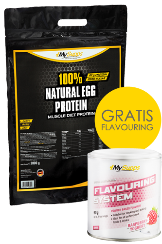 My Supps 100% Natural Egg Protein 2kg + Flavouring 90g