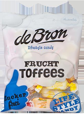 de Bron Low Sugar Frucht Toffees - 90g