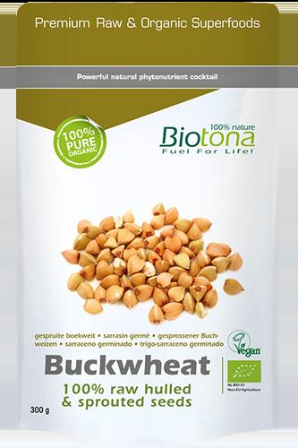 Biotona Buckwheat raw hulled & sproutet seeds - 300g - Abbildung vergrößern!