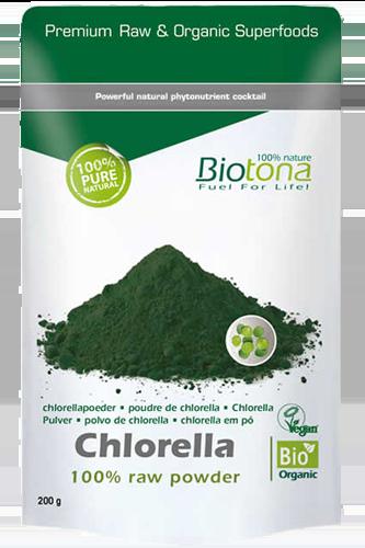 Biotona Chlorella raw powder - 200g - Abbildung vergrößern!
