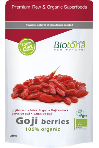 biotona goji berries 100 organic 250g bei my supps. Black Bedroom Furniture Sets. Home Design Ideas