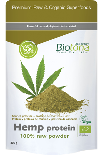 Biotona Hemp Protein 100% Raw Powder - 300g