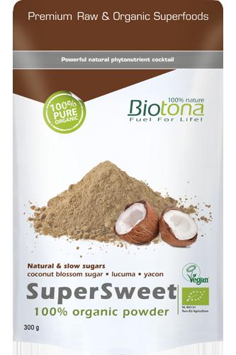 Biotona SuperSweet 100% Organic Powder - 300g - Abbildung vergrößern!