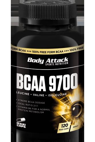 Body Attack BCAA 9700 - 120 Caps - Abbildung vergrößern!