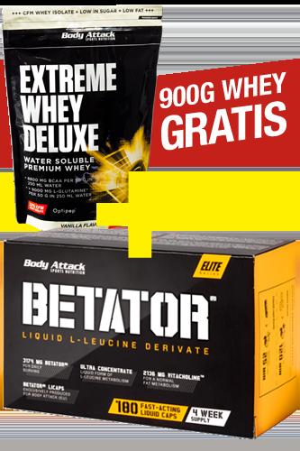 Body Attack Betator 180er + Extreme Whey Deluxe 900g gratis *AKTIONSPAKET* - Abbildung vergrößern!