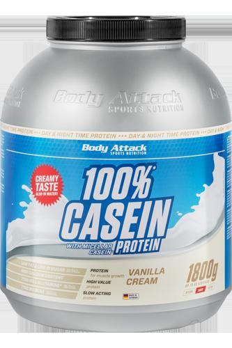 Body Attack 100% Casein Protein - 1,8kg - Abbildung vergrößern!