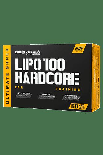 Body Attack LIPO 100-HARDCORE - 60 Caps - Abbildung vergrößern!