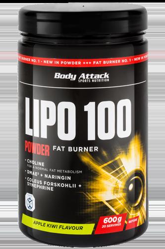 Body Attack LIPO 100-Powder - 600g - Abbildung vergrößern!