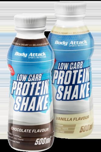 Body Attack Low Carb Protein Shake - 500 ml Restposten - Abbildung vergrößern!