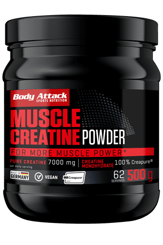 Body Attack Muscle Creatine (Creapure) - 500g - Abbildung vergr��ern!