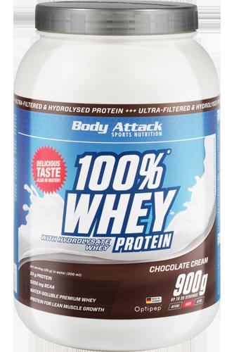 Body Attack 100% Whey Protein - 900g - Abbildung vergrößern!