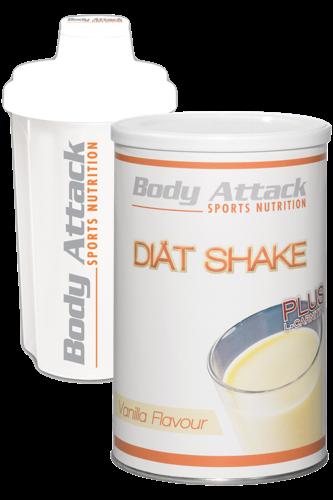 Body Attack Diät Shake + Shaker weiss - Abbildung vergrößern!