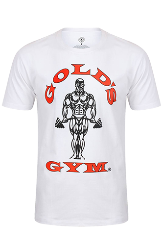 Gold´s Gym T-Shirt Muscle Joe White