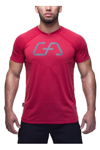 Gym Aesthetics T-Shirt Herren Regular Fit - rot - Abbildung vergrößern!