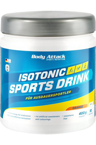 Body Attack Isotonic Sports Drink - 400g - Abbildung vergrößern!