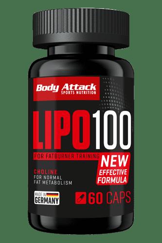 Body Attack LIPO 100 - 60 Caps - Abbildung vergrößern!