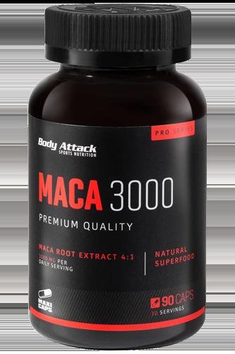 Body Attack Maca 3000 - 90 Caps - Abbildung vergrößern!