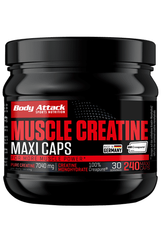 Body Attack Muscle Creatine (Creapure) - 240 Maxi-Caps - Abbildung vergr��ern!