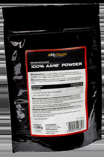 My Supps 100% AAKG Powder - 250g Restposten - Abbildung vergrößern!