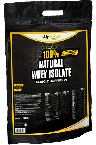 My Supps 100% Natural Whey Isolate 100% CFM - 2kg