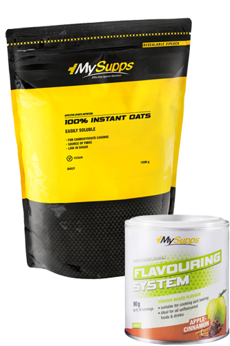 My Supps 100% Instant Oats 1kg + Flavouring System 90g