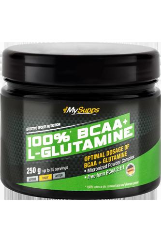 My Supps 100% BCAA plus L-Glutamine - 250g - Abbildung vergrößern!