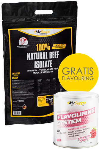 My Supps 100% Natural Beef Isolate 2kg + Flavouring 90g