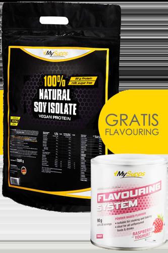 100% Natural Soy Protein Isolat 2kg + Gratis Flavouring - Abbildung vergrößern!