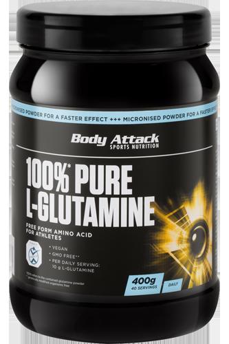 Body Attack 100% Pure L-Glutamine - 400g - Abbildung vergrößern!