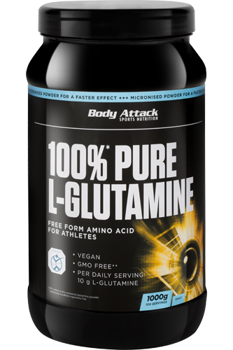 Body Attack 100% Pure L-Glutamine - 1kg - Abbildung vergr��ern!