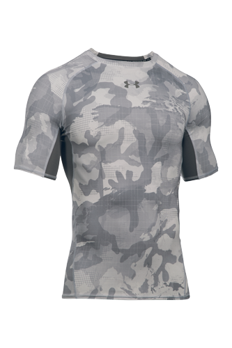 Under Armour T-Shirt HG Armour Herren kurzärmlig - grey - Abbildung vergrößern!