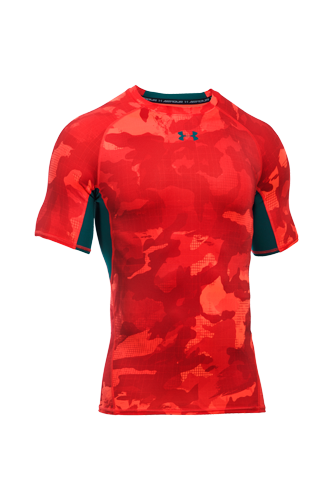 Under Armour T-Shirt HG Armour Herren kurzärmlig - red - Abbildung vergrößern!