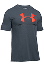 Under Armour T-Shirt Herren Logo kurzärmlig - grau-orange
