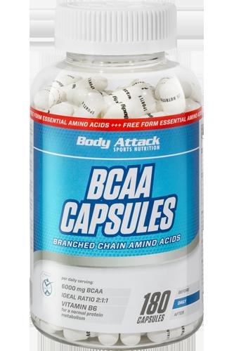 Body Attack BCAA Capsules - 180 Caps - Abbildung vergr��ern!
