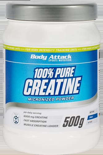 Body Attack 100% Pure Creatine  - 500g - Abbildung vergrößern!