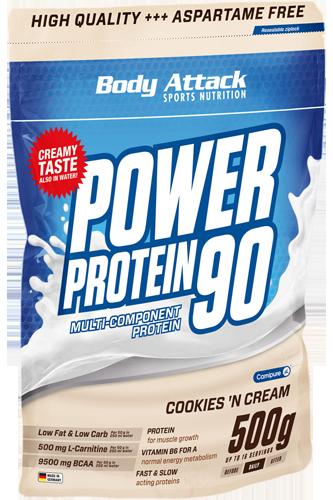 Body Attack Power Protein 90 - 500g - Abbildung vergrößern!