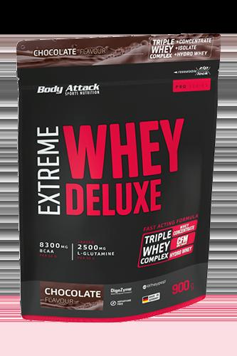 Body Attack Extreme Whey Deluxe Beutel  - 900g - Abbildung vergrößern!