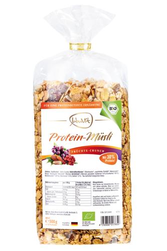 JabuVit Protein-Müsli Früchte-Crunch 500g - Abbildung vergrößern!
