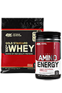 Optimum Nutrition 100% Whey Gold Standard 3,16kg + Amino Energy Fruit Fusion 270g