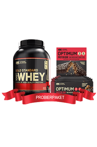 Optimum Nutrition 100% Whey Gold Standard - 2270g + 60g Optimum Protein Bar 10er Paket