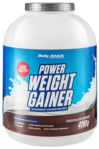 Body Attack Power Weight Gainer 4750g - Abbildung vergrößern!